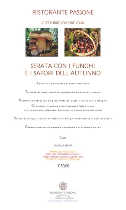 cena funghi e castagne 2015